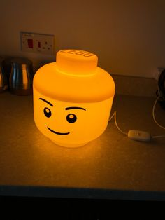 LED Lego Lamp perfect for children's bedroom.