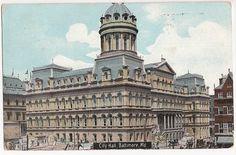 City Hall, Baltimore, Maryland, postmarked 1910