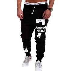 Mens Pantaloni Pantaloni 2017 di Marca Pantaloni Maschili Uomini Pantaloni Casual Pantaloni Della Tuta Jogger Nero XXXL KDBB