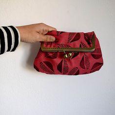 Vintage Style Handbag made by Linen handmade printed por FaroStore