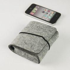 Travel Accessories , Handmade Felt Case Pouch, Camera Case, Cosmetic Bag,Felt Bag , Power Adapter Bag , Mouse Bag Case - grey-118