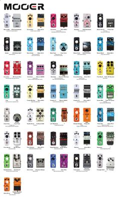 Guitar Pedals - Rundown of the original pedals Mooers are based on