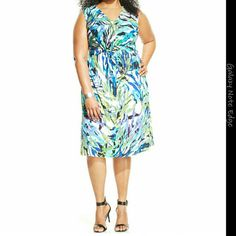 NY COLLECTION PLUS SIZE NWT NY Collection Plus Size Sleeveless Printed Dress  Color : Multi  Size : 2X NY Collection Dresses