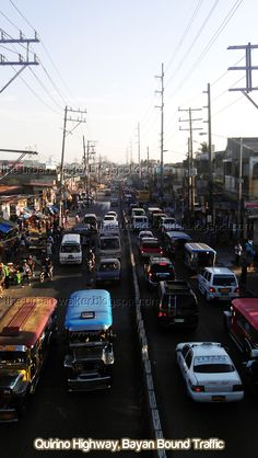 Quirino Highway Bayan Traffic, Road condition, support infrastructures, vehicle flow, pedestrian, parking issues and problems