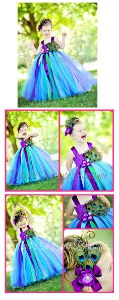 Peacock Flower Girl Tutu Dress