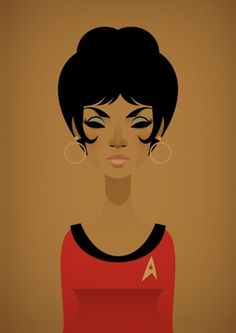 don't care for star trek but Stanley Chow Illustration & Design Star Wars, Star Trek Tos, Illustrations, Illustration Art, Geeks, Stanley Chow, Nichelle Nichols, Celebrity Caricatures, Celebrity Drawings
