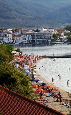 Discover Thassos II, Limenas, Greece, Beach near harbor Thasos, Chios Greece, Greece Islands, Island Beach, Ancient Greece, Travel Inspiration, Scenery, Travel Scrapbook, Vacation