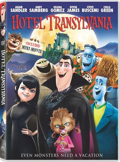 Welcome to the Hotel Transylvania, Dracula's (Adam Sandler) lavish five-stake resort, where monsters and their families can live it up, free to be the monsters they are without humans to bother them. We Movie, Movie Gifs, Hotel Transylvania Dvd, Transylvania Dracula, Halloween Movies, Family Movies, Spirit Halloween, Classic Movies, Movies Showing