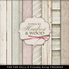 Far Far Hill: New Freebies Kit of Winter Wooden Backgrounds