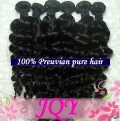 """AAAA Grade 100% Peruvian Remy Human Hair Weft Real Virgin Peruvian Hair Extensions Deep Wave Curly 20"""" 22"""" 2 Bundles 200 Grams Unprocessed Black 1B by JQY. $189.99. 1)100% brand new and high quality  Product: 100% Virgin Remy peruvian hair. (no clips on it )  2)Versatility: Can be Pressed, Dyed or Curled  3)Color:  natural black  4)Texture: Body Wave  5)Quality: Premimum Peruvian  6)Weight: 100g per bundle (about 3.5oz)  7)Available length: 12'', 14'', 16'', 18'', 20'' , ..."""