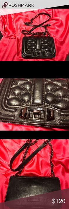 Rebecca Minkoff quilted leather cross body bag! Practically new Rebecca Minkoff black quilted leather cross body bag! Rebecca Minkoff Bags Crossbody Bags