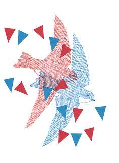 instagram.com/miu_mirambell #illustration #birds @miumirambell