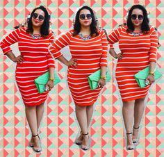 Love Gabi Fresh in this horizontal Stripped dress! http://www.fashiontofigure.com/catalog/clothing/plus-size-dresses/maritime-striped-dress-31155.html