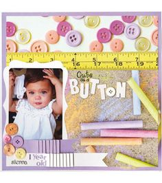 Check out this 'cute as a button' page from @DCWV Inc. Inc. :) #scrapbook #love