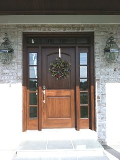 Doors Wood Front Doors With Style Traditional Front Door Idea In Other With A Single Front Door And A Dark Wood Front Door Wood Front Doors for Ideal Home