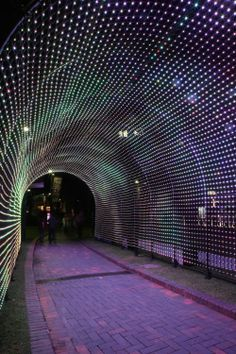 Thousands of LED Lights Create a Tunnel of Hopes via MMM As part of Vivid Sydney Designworks worked with The Benevolent Society to create an amazing interactive light installation that consists.