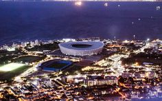A view of the city and Cape Town Stadium from the top of a City Sightseeing Cape Town bus. www.citysightseeing.co.za