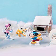 Figurines «patin à glace» Mickey et ses amis - les Petits Moments - Mes Créations   Disney.fr