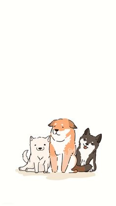 Cute Dog Wallpaper, Dog Wallpaper Iphone, Drawing Wallpaper, Animal Wallpaper, Aesthetic Iphone Wallpaper, Wallpaper Backgrounds, Kawaii Drawings, Cute Drawings, Cat Icon