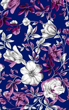 Textile Prints, Textile Patterns, Print Patterns, Love Wallpaper, Pattern Wallpaper, Iphone Wallpaper, Botanical Prints, Floral Prints, Plum Art