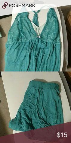 Lane bryant tank and short PJ set Worn once. Matching tank and shorts pajama set Lane Bryant Intimates & Sleepwear Pajamas