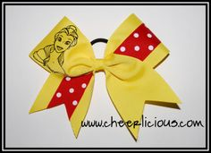 Belle of Ball Bow Disney Cheer Bows, Cheerleading Cheers, Fitness, Excercise, Health Fitness