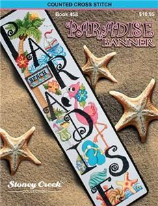 Paradise Banner Cross Stitch Pattern