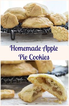 Homemade Apple Pie Cookies, a delicious made from scratch easy cookie recipe, filled with a delicious apple cinnamon filling. Perfect! via @https://it.pinterest.com/Italianinkitchn/