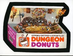 Wacky Packages 2013 | Dungeon Donuts #tradingcards #stickers #collectibles
