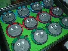 Cup Cake Thomas and Friends  Massa: Chocolate Recheio: Doce de Leite