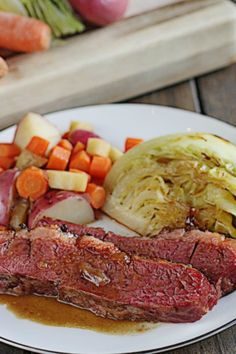 Guinness Corned Beef with Cabbage - The Hopeless Housewife®