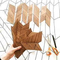 Transferring a paper pattern onto timber veneers to begin forming a parquetry table top. A technique I developed during my Visual Arts Honours degree at the ANU School of Art! @chelsealemondesign #guestinstagrammer #artschoolANU #ANU #ANUSchoolofart #woodwork #parquetry #woodworking #design #pattern #veneers #canberra #anufurnitureworkshop de artschoolanu