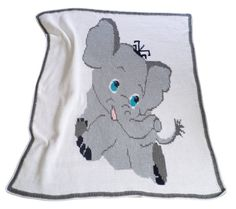 Baby Elephant Babt Blanket Nap Blanket by RelaxedLuxKeepSakes