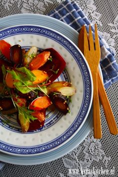 recipe: ROOT ROAST SALAD (great  easy way to continue eating salads healthily thoughout the cooler seasons)