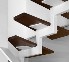 The Bright Apartment - Staircase detail - by Stirixis Exclusive Loft Staircase, Staircase Handrail, Floating Staircase, Modern Staircase, House Stairs, Stair Railing, Staircase Design, Staircases, Bright Apartment