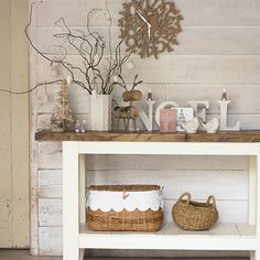 Rustic white country hallway   Decorating