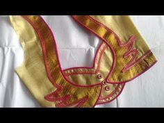 Hello Viewers Welcome To MMS DESIGNER. This video will show you how to create a beautiful and simple way MMS Latest Blouse Back Neck designs Easy Cutting and. Saree Jacket Designs, Patch Work Blouse Designs, Saree Blouse Neck Designs, Kurta Designs, Sari Blouse, Mehndi Designs, Latest Blouse Neck Designs, Simple Blouse Designs, Stylish Blouse Design