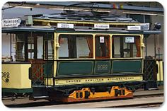 Erste elektrische Straßenbahn in Berlin (Strassenbahn Museum Berlin-Pankow  Ortsteil Niederschoenhausen)