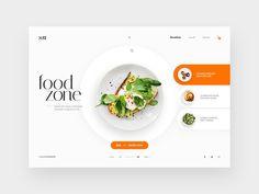 Restaurants Webpage Design Concept | Webpage Design | Best Website Ui Design | Creative Websites Templates | Website Design Free. #analytics #web design Food Web Design, Site Web Design, Web Design Quotes, Website Design Layout, Web Design Tips, Web Design Trends, Menu Design, Layout Site, Web Layout