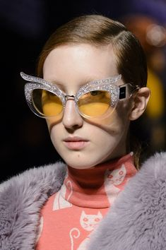0870c26a6c5 Miu Miu Fall 2017 Fashion Show Details - The Impression Miu Miu Sunglasses  2017