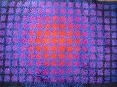 The Carpet Index: Verner Panton and Unika-Vaev. An Unsolved Question for an Iconic Vintage Rya Rug Carpet Flooring, Rugs On Carpet, Rya Rug, Textile Patterns, Textiles, Space Age, Op Art, Danish Design, Rug Making
