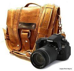 Camera Safari Bag Serengeti Full Grain by CopperRiverBags, $148.95 I reallly really want this bag!!! +Tri