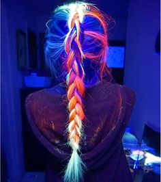 Bunte Haare Rainbow hair hair Family Vegetation And Pests Family crops Pelo Multicolor, Grunge Hair, Rainbow Hair, Rainbow Light, Crazy Hair, Dark Hair, Light Hair, White Hair, Pretty Hairstyles