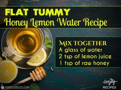 Flat Tummy honey lemon water Week Detox Diet, Detox Diet Drinks, Natural Detox Drinks, Smoothie Detox, Fat Burning Detox Drinks, Cleanse Diet, Stomach Cleanse, Water Recipes, Detox Recipes