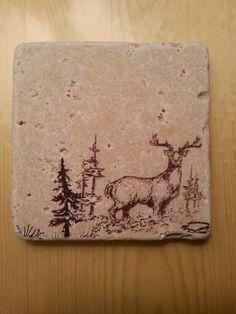 My DIY stamped tile coaster,  #2