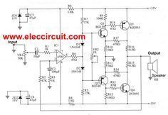 100w subwoofer amplifier circuit diagram coromal caravan trailer wiring 140w power tip3055 tip2955 in 2019 digital this 50w ocl main has high quality and economical it is designed simple easily created electronics rookie cheap when compared to other
