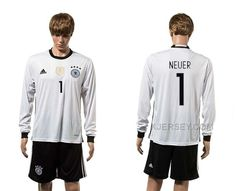 http://www.xjersey.com/germany-1-neuer-home-youth-euro-2016-long-sleeve-jersey.html GERMANY 1 NEUER HOME YOUTH EURO 2016 LONG SLEEVE JERSEY Only $35.00 , Free Shipping!