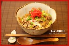 Gyudon. We don't make it exactly like this, but close.