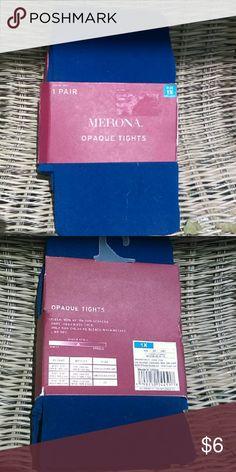 Merona royal blue tights BNIP Plus Size A brand new pair of Waterloo blue  (deep blue) Plus Size opague tights in original packaging. 2fb3debfd