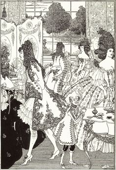 Illustration For The Rape Of The Lock By Alexander Pope Art Print by Beardsley Aubrey. All prints are professionally printed, packaged, and shipped within 3 - 4 business days. Art And Illustration, Victorian Illustration, Photomontage, Art Nouveau, Japanese Woodcut, Aubrey Beardsley, Art Japonais, English Artists, Fairytale Art